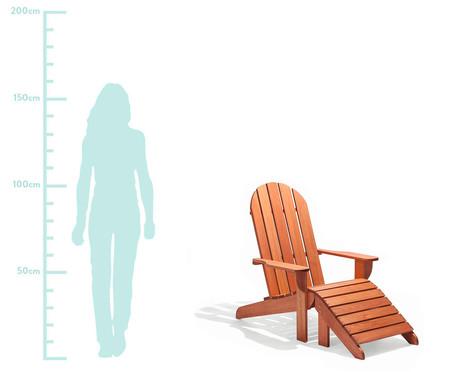 Cadeira Adirondack Michigan com Peseira - Jatobá   WestwingNow