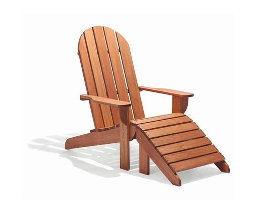 Cadeira Adirondack Michigan com Peseira - Jatobá, Marrom | WestwingNow