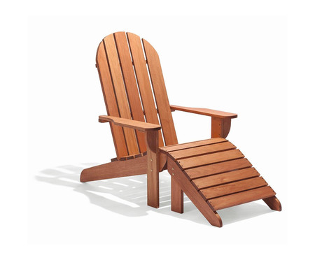 Cadeira Adirondack Michigan com Peseira - Jatobá | WestwingNow