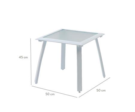 Mesa Auxiliar Mestra com Tampo de Vidro Quadrada - Branca | WestwingNow