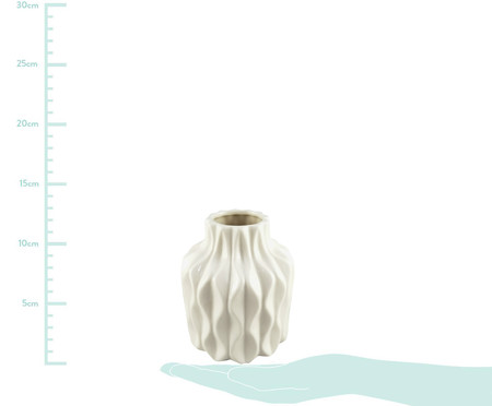 Vaso de Cerâmica Jandir- Branco | WestwingNow