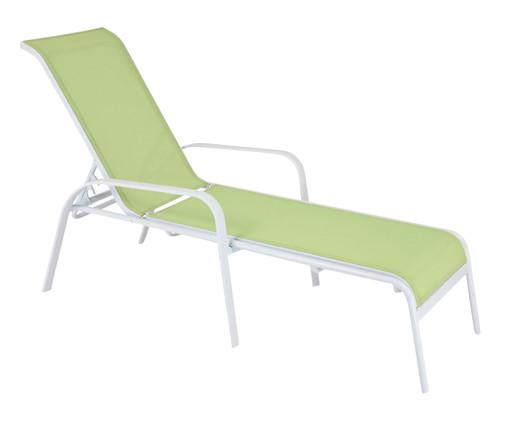 Espreguiçadeira Empilhável Summer - Verde e Branco, Verde | WestwingNow