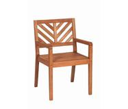 Cadeira Eko com Braços - Nogueira | WestwingNow