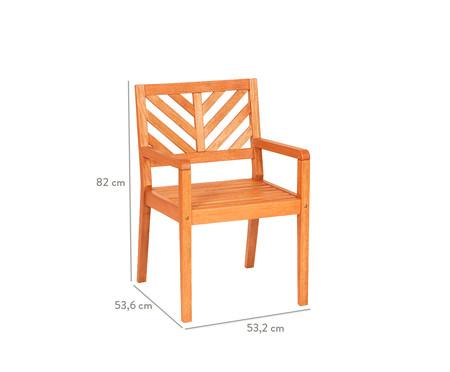 Cadeira Eko com Braços - Jatobá | WestwingNow