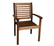 Cadeira Empilhável Milano com Braços - Nogueira | WestwingNow