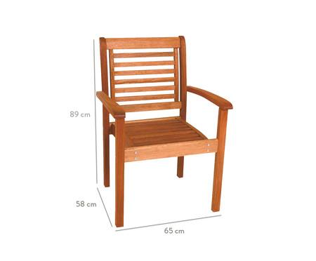 Cadeira Empilhável Milano com Braços - Jatobá | WestwingNow