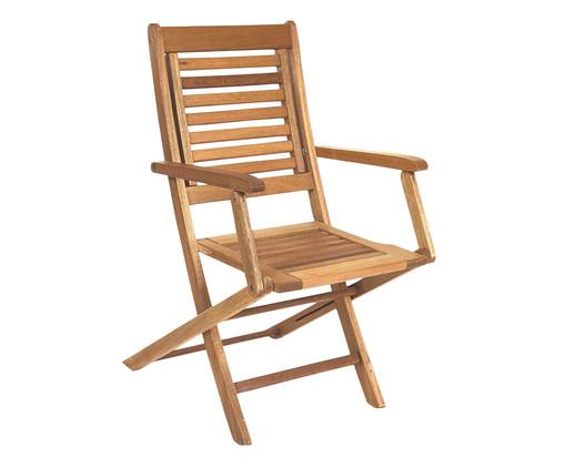 Cadeira Dobrável Parati com Braços - Jatobá, Marrom | WestwingNow