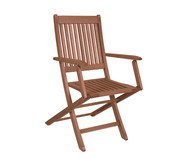 Cadeira Dobrável Ipanema com Braços - Nogueira | WestwingNow