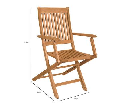 Cadeira Dobrável Ipanema com Braços - Jatobá | WestwingNow