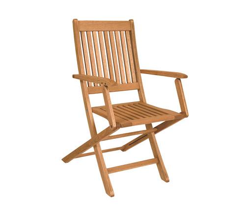 Cadeira Dobrável Ipanema com Braços - Jatobá, Marrom | WestwingNow
