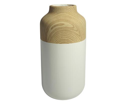 Vaso de Cerâmica Chuck Foebe - Branco e Bege, Branco, Bege | WestwingNow
