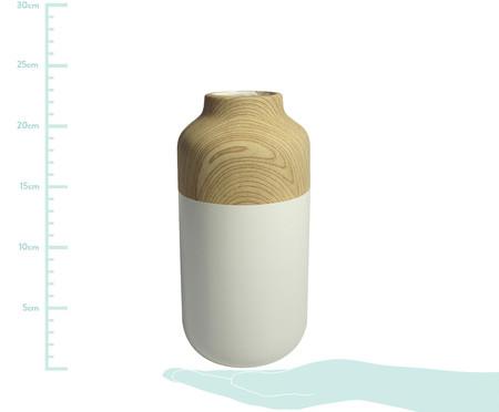 Vaso de Cerâmica Chuck Foebe - Branco e Bege | WestwingNow
