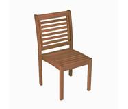 Cadeira Empilhável Milano sem Braços - Nogueira | WestwingNow
