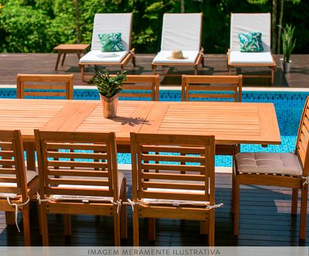 Cadeira Empilhável Milano sem Braços - Jatobá | WestwingNow