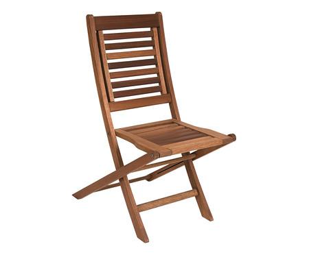Cadeira Dobrável Parati sem Braços - Nogueira | WestwingNow