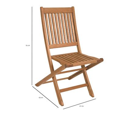 Cadeira Dobrável Ipanema sem Braços - Jatobá | WestwingNow