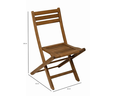 Cadeira Dobrável Mestra Ipanema - Nogueira | WestwingNow