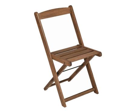 Cadeira Dobrável Veneza - Nogueira   WestwingNow