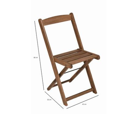 Cadeira Dobrável Veneza - Nogueira | WestwingNow