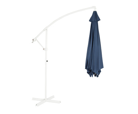 Ombrelone Lateral Solaris Fixo - Azul Marinho e Branco | WestwingNow