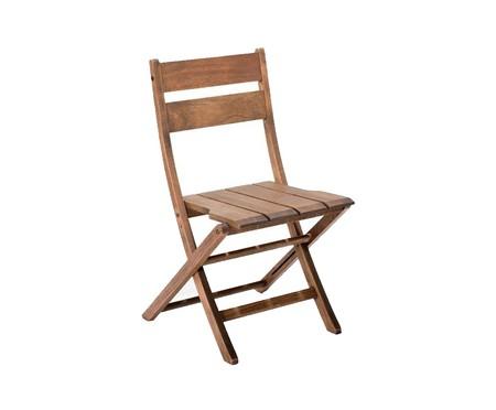 Cadeira Dobrável Verona sem Braços - Nogueira | WestwingNow