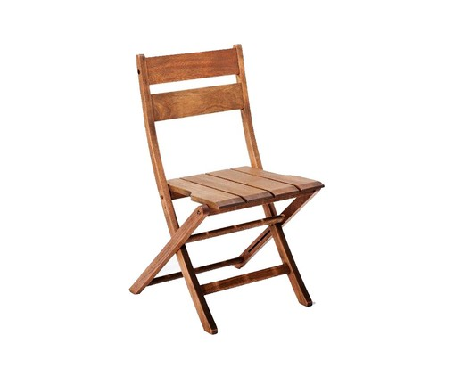 Cadeira Dobrável Verona sem Braços - Jatobá, Marrom | WestwingNow