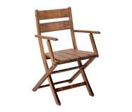 Cadeira Dobrável Verona com Braços - Nogueira | WestwingNow