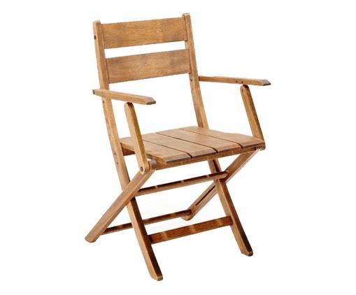 Cadeira Dobrável Verona com Braços - Jatobá, Marrom | WestwingNow