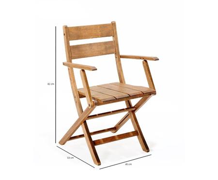 Cadeira Dobrável Verona com Braços - Jatobá | WestwingNow