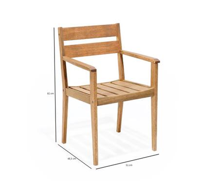 Cadeira Verona com Braços - Jatobá | WestwingNow