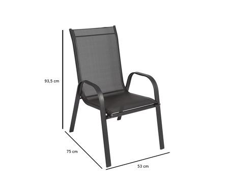 Cadeira Empilhável Cancun - Preta | WestwingNow