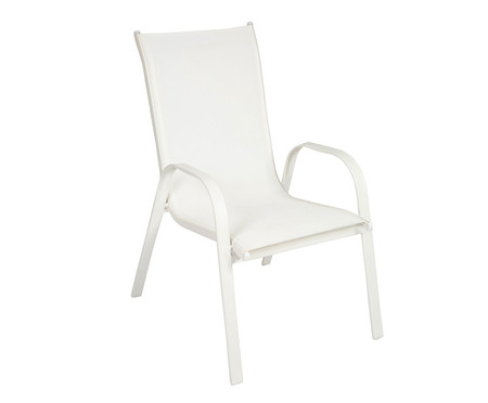 Cadeira Empilhável Cancun - Branca | WestwingNow