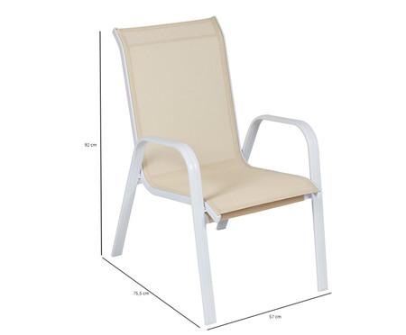 Cadeira Empilhável Summer - Bege e Branca | WestwingNow