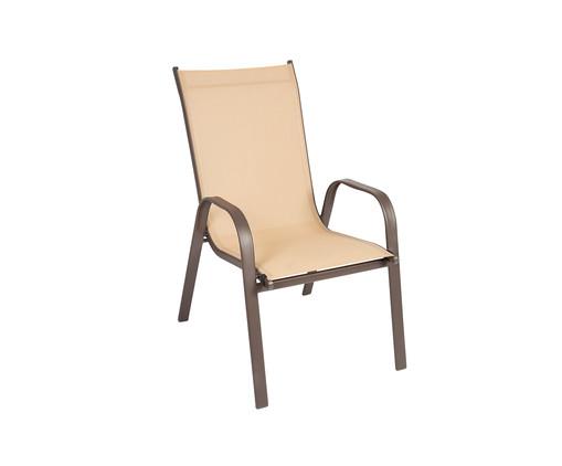 Cadeira Empilhável Cancun - Bege, Bege | WestwingNow