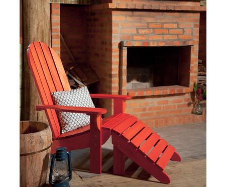 Cadeira Adirondack Michigan com Peseira - Vermelho   WestwingNow