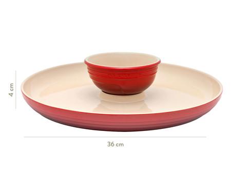 Prato para Aperitivos em Cerâmica - Vermelho | WestwingNow