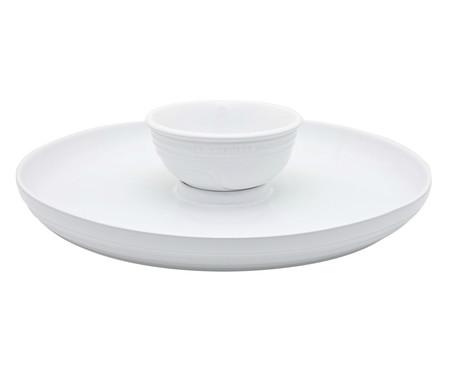 Prato para Aperitivos em Cerâmica - Branco | WestwingNow