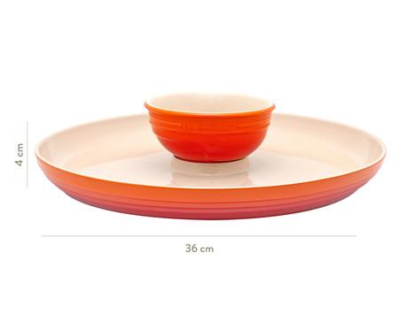 Prato para Aperitivos em Cerâmica - Laranja   WestwingNow