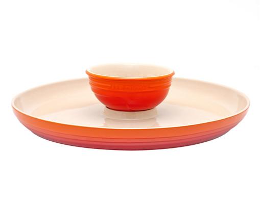Prato para Aperitivos em Cerâmica - Laranja, Laranja | WestwingNow