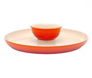 Prato para Aperitivos em Cerâmica - Laranja | WestwingNow