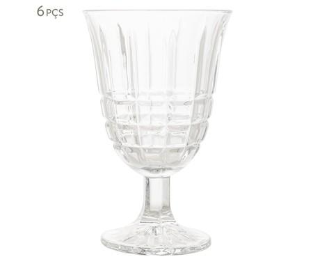 Jogo de Taças para Água em Vidro King - Transparente | WestwingNow