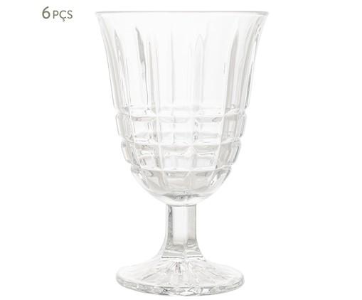Jogo de Taças para Água em Vidro King - Transparente, Transparente | WestwingNow