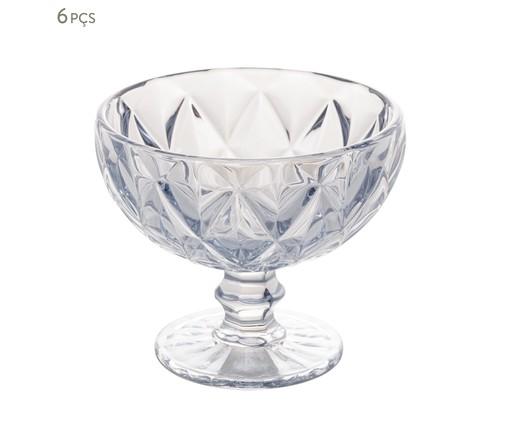 Jogo de Taças para Sobremesa em Vidro Mavi - Transparente, Transparente   WestwingNow