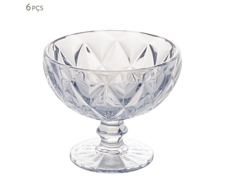 Jogo de Taças para Sobremesa em Vidro Mavi - Transparente | WestwingNow