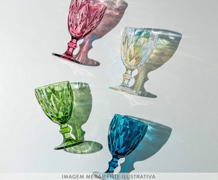 Jogo de Taças para Água em Vidro Iara - Roxo | WestwingNow