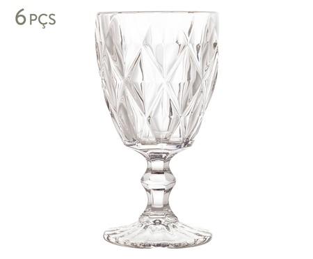 Jogo de Taças para Água em Vidro Iara - Transparente | WestwingNow