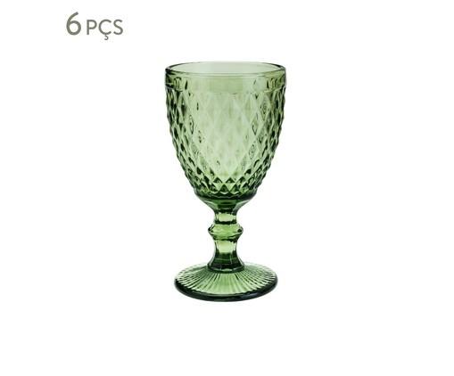Jogo de Taças para Água em Vidro Ella - Verde, Verde   WestwingNow