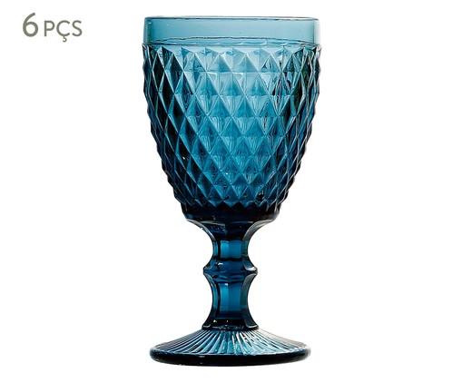 Jogo de Taças para Água em Vidro Ella - Azul, Azul | WestwingNow