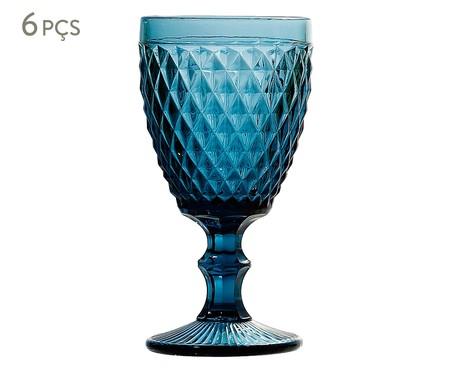Jogo de Taças para Água em Vidro Ella - Azul | WestwingNow