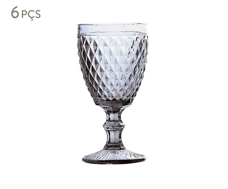 Jogo de Taças para Água em Vidro Ella - Transparente | WestwingNow